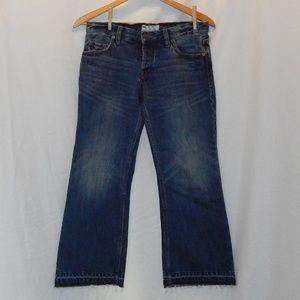 Free People frayed leg jeans